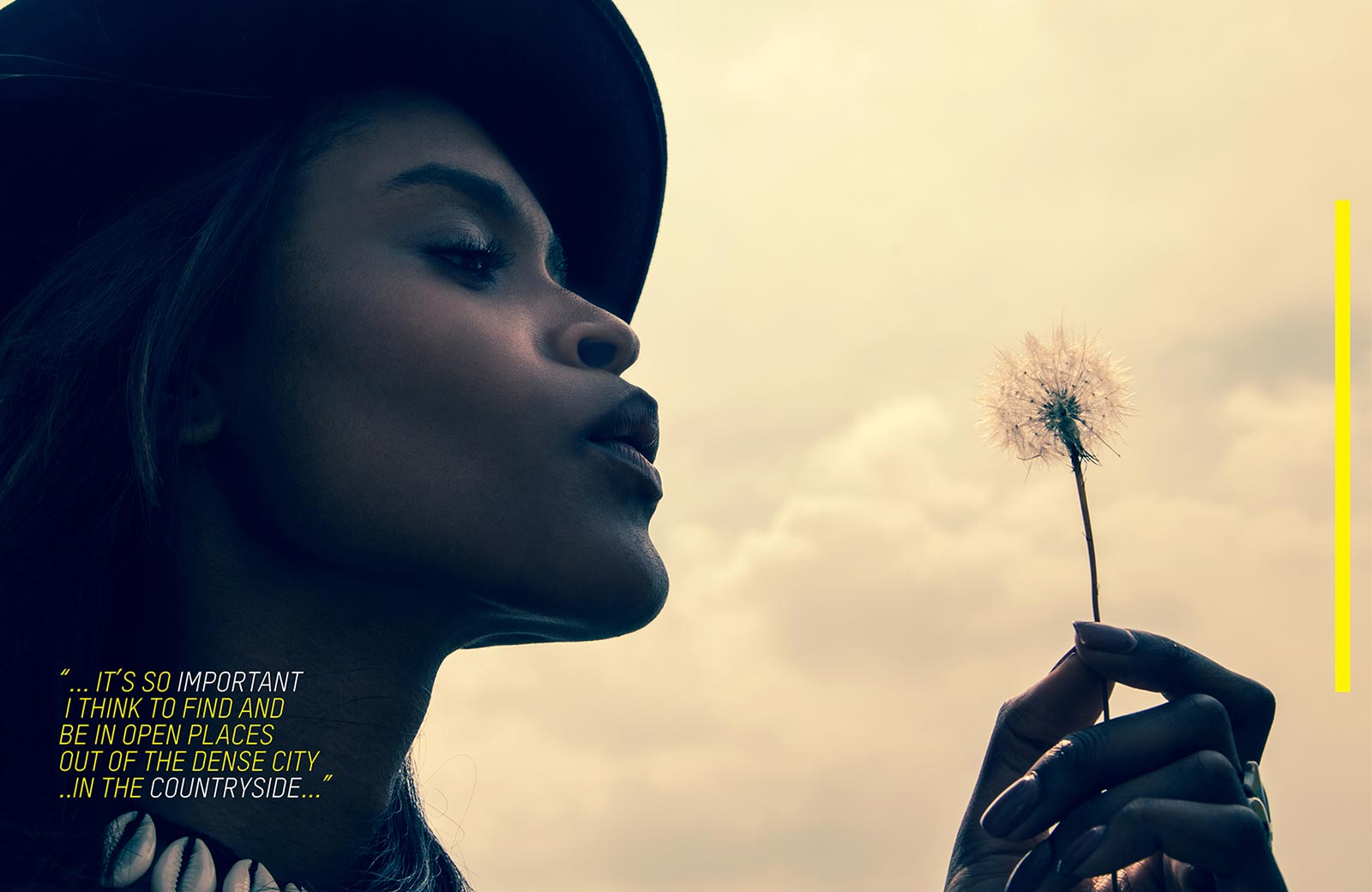 PORTIA OKOTCHA BLOWING DANDELION hey girl magazine