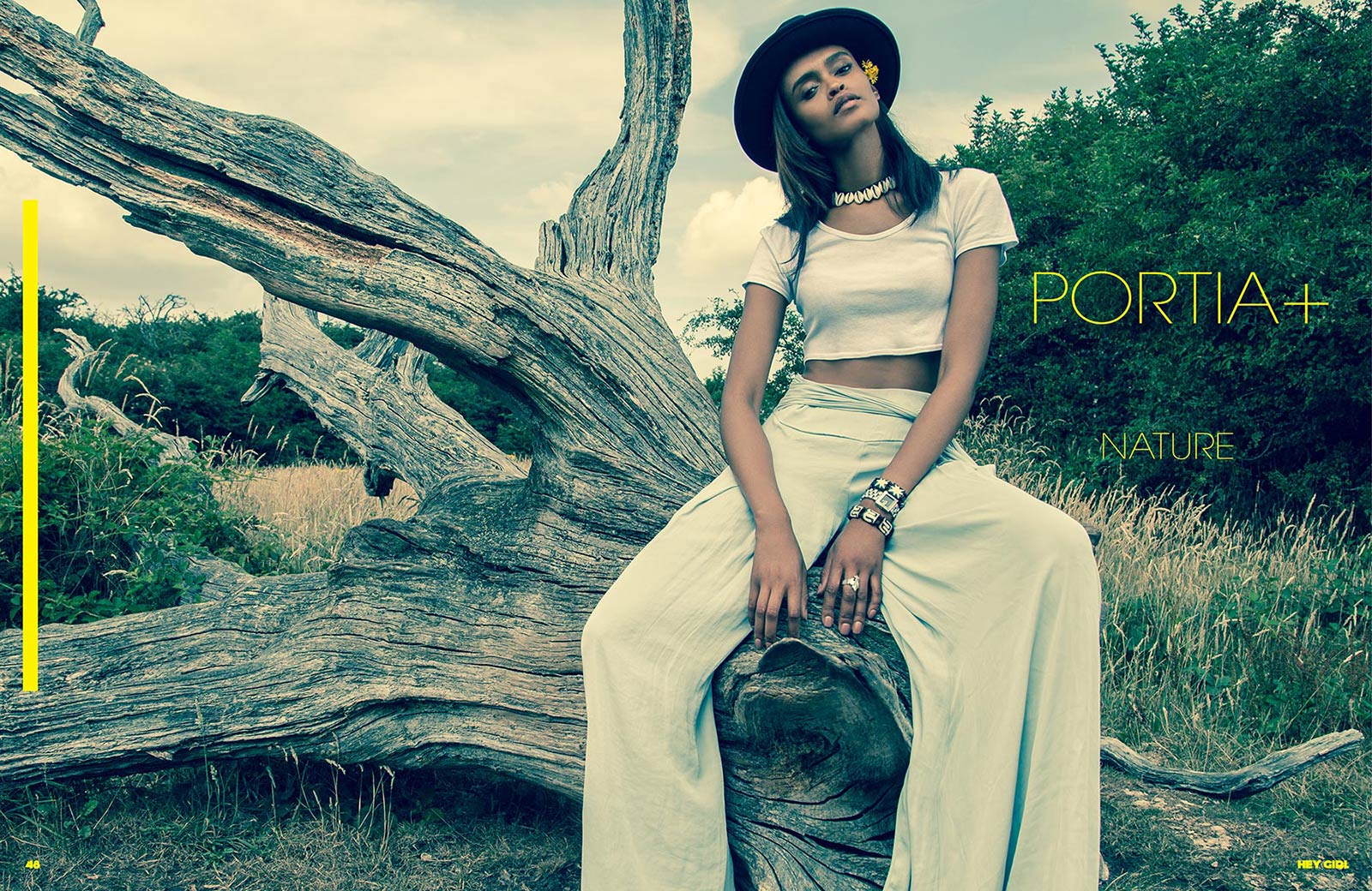 PORTIA OKOTCHA TREE HAT hey girl magazine