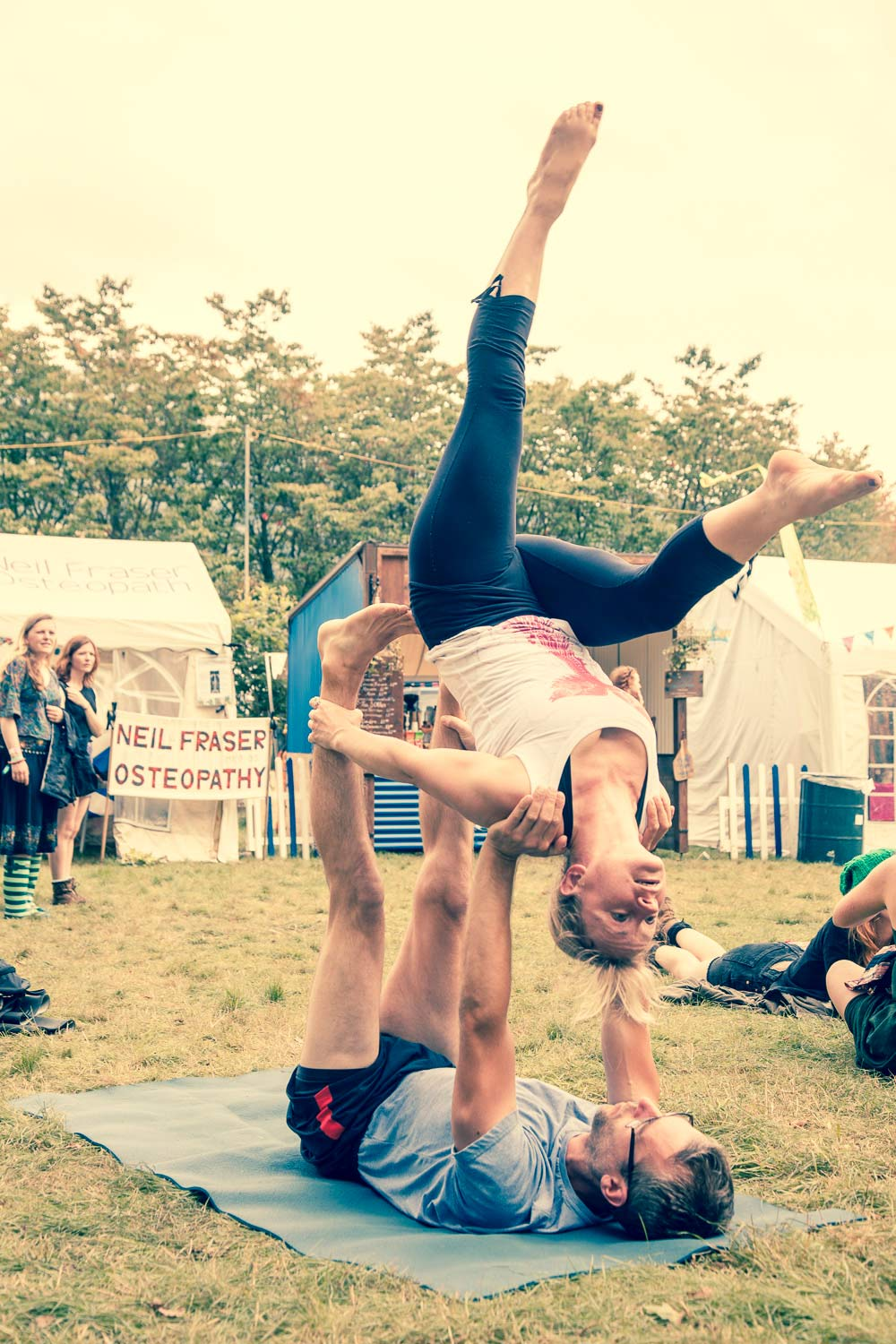 green man festival 2015 acro yoga